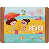 jackinthebox Art and Craft Beach Sewing Kit for Kids - A Day at The Beach 3 DIY Fun Activities and Crafts for Girls Ages 6-10, for Girls Learning Stem Toys (3-in-1)