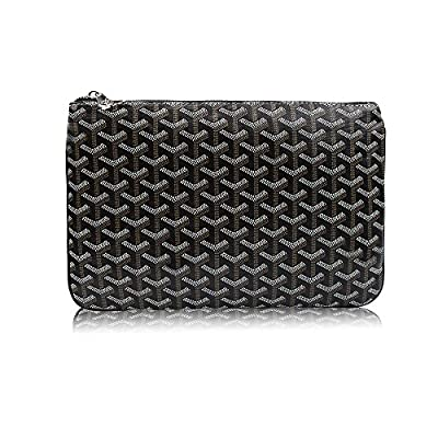 Stylesty Men's Clutch Bag Envelope Portfoli, Fashion Pu Large Envelope Clutch Purse (Large, Dark Grey)
