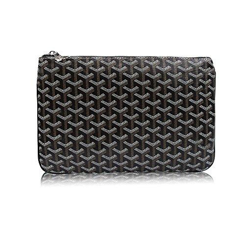 Designer Pouch - Stylesty Men's Clutch Bag Envelope Portfoli, Fashion Pu Large Envelope Clutch Purse (Large, Black)