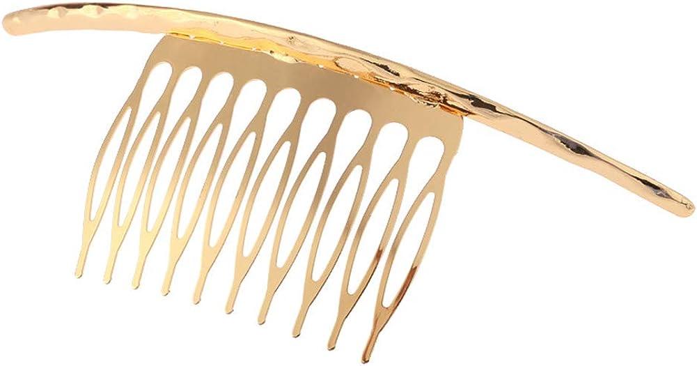 YAZILIND Diseño Simple Inserciones con Estilo Pinza de Pelo Accesorios de Peine de Cola de Caballo para Mujer Damas Pinza de Pelo Tocado