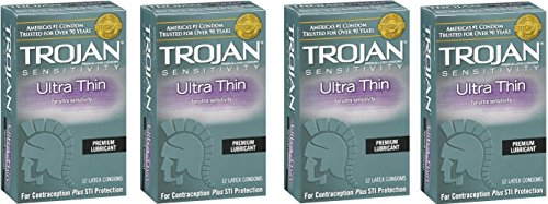 Trojan Ultra Thin Latex Condoms, 48 Count by Trojan