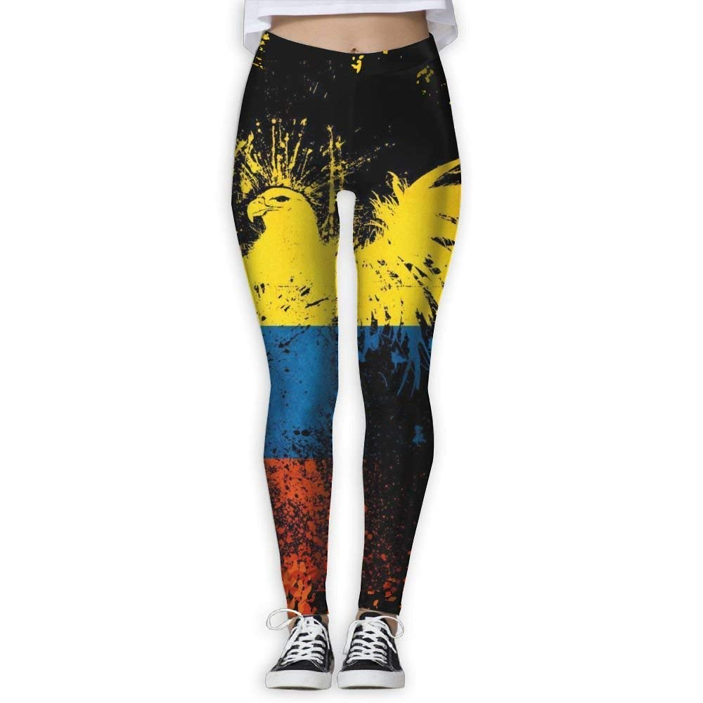 best bags Colombian Flag and Eagle Women's Yoga Trousers Color Print Training Leggings