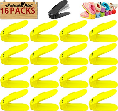 x 16 SchuhMe® Schuhhalter Schuhstapler Profi Verstellbarer q8FHn1w