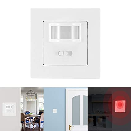 Sunsbell Interruptor Sensor Movimiento, Control del Interruptor Conmutadores de la Luz Infrarroja IR de la Seguridad del Detector de Movimiento con ...