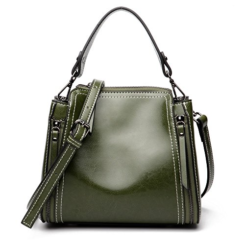 Baachang Green Army colore Shoulder Handbags Marrone Ladies Handles rwxnv8q0rB