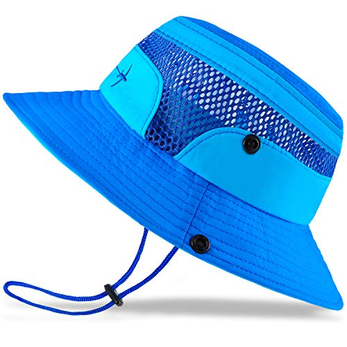Baby Sun Hat Toddler Sun Hat Kids Breathable Bucket Sun Protection Hat | Adjustable, Stay-on Chin-Strap, Summer Play-2-4 Years