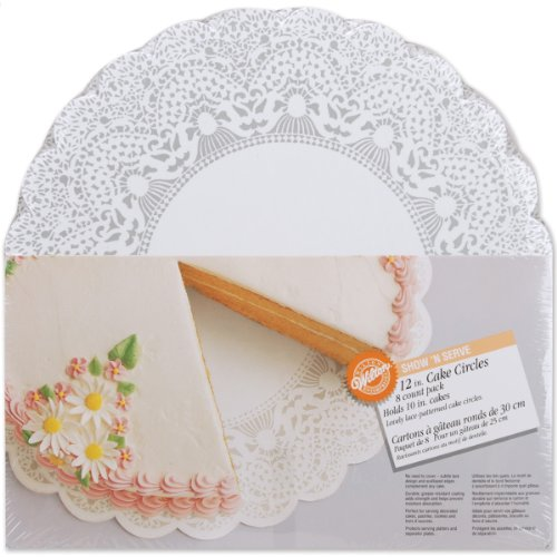 - Wilton Show-N-Serve 12-Inch Lace Doily Cake Circles, 8-Count - Round Cake Boards