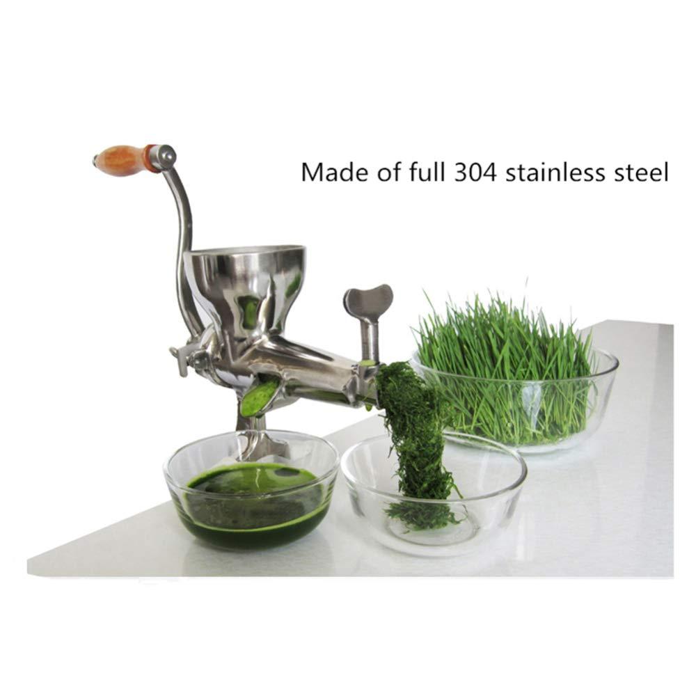 VATHJ Exprimidor Exprimidor de hierba de trigo manual de acero inoxidable antiguo Máquina de jugo Exprimidor de frutas y hortalizas exprimidor de frutas: ...