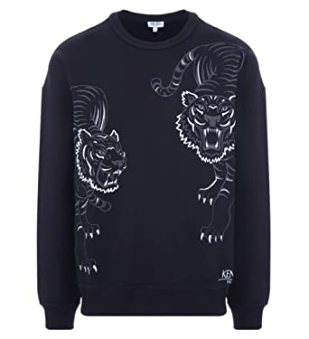 1536a50dfe78 Kenzo Limited Edition  Double Tiger   Holiday Capsule  Navy Blue Sweatshirt  ...