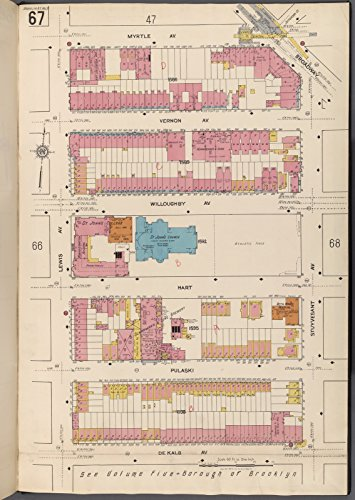 Map Poster - Brooklyn V. 3, Plate No. 67 [Map bounded by Myrtle Ave., Broadway, Stuyvesant Ave., De Kalb Ave., Lewis Ave.] 17