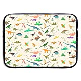 SWAKOJIJI Dinosaurs Set 13/15 Inch Laptop Sleeve Bag for MacBook Air 11 13 15 Pro 13.3 15.4 Portable Zipper Laptop Bag Tablet Bag,Diving Fabric,Waterproof Black