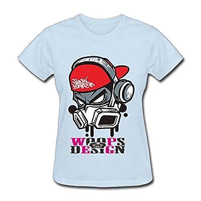 Ruiyinji Skull Helmet Women's Short Sleeve T Shirt