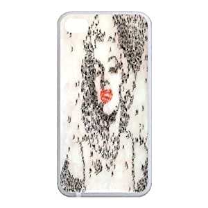 DIY Personalized Customized Printing Marilyn Monroe Hard Plastic Back Case Cover Skin for Apple iPhone 4 4S AB337960