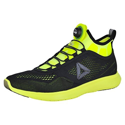 Reebok Pump Plus Tech Solar Yellow/Black Mens Running Size (Reebok Custom Fit Pumps)
