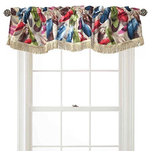 Violet Linen Decorative Chenille Feathers Design, 60