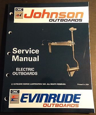 1992 OMC EVINRUDE JOHNSON ELECTRIC OUTBOARDS SERVICE MANUAL P/N 508140 (747)