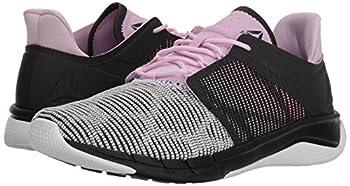 Reebok Women's Fast Flexweave Running Shoe, Coalwhitemoonglowacid Pink, 8.5 M Us 4