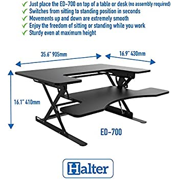 Amazon Com Halter Ed 700 Preassembled Height Adjustable