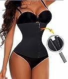 zip corset butt lifter - Waist Trainer Cincher Long Torso Shaper Zipper Plus Size Corset For Weight Loss (XL, Black)