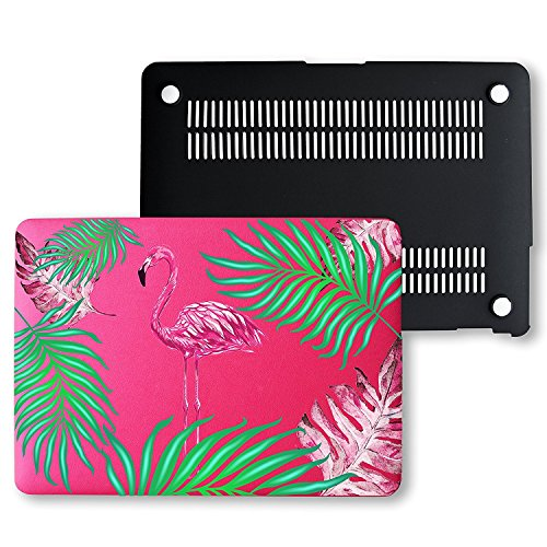 macbook-air-13-case-ultra-slim-lightweight-pu-leather-pink-hard-shell-snap-on-protective-case-cover-