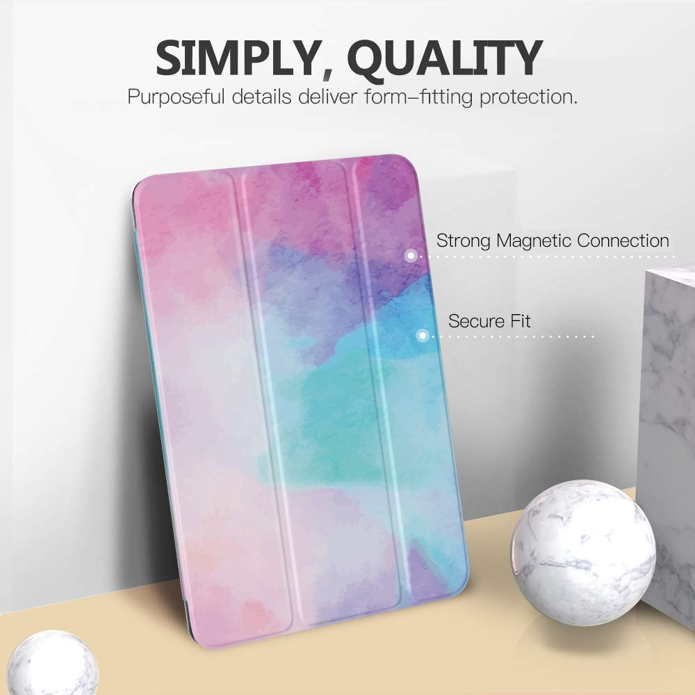 Slim Lightweight Smart Shell Stand Cover with Translucent Frosted Back Protector for iPad 10.2 2019 Auto Wake//Sleep MoKo Case Fit New iPad 7th Generation 10.2 2019 // iPad 10.2 Case Space Gray
