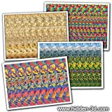"Set of Four 18""x13"" Stereogram Posters #1"