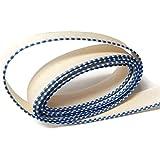 "FimBand Book Binding Headbands/Endbands - White/Royal Blue - 2 Yards (72 inches) - Medium Cotton - 5/8"" wide"