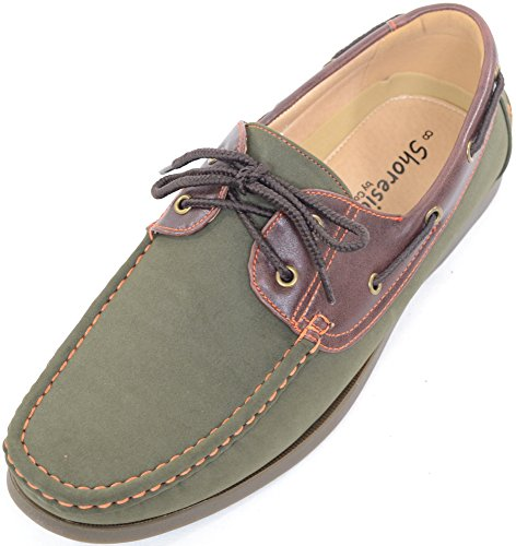 Mens Smart / Casual / Summer Lace Up Boat / Deck Shoes / Loafers - Green / Brown - US 10