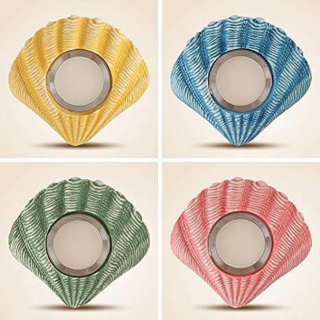 Focos LED mediterráneos Sala de estar Techo Luces de ojo de buey Restaurante de pared Habitación para niños Luces de pasillo Focos empotrados 14 * 13 cm: ...