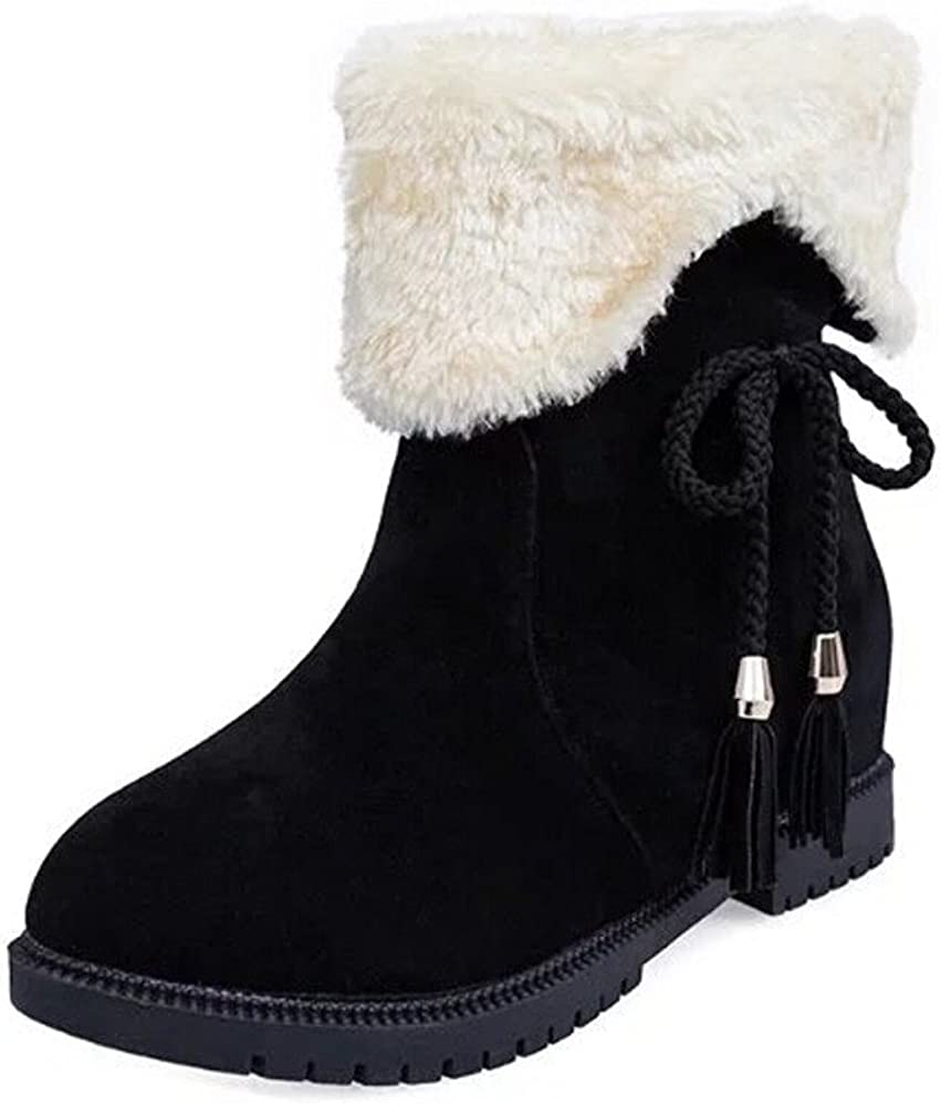 Women Ankle Boots Ladies Army Combat Flat Booties Casual Soft Shoes Winter Warm