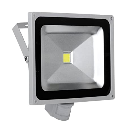 SAILUN 50W Bianco cálido Foco LED Floodlight Led Foco IP65 con Sensor de Movimiento Proyector Led