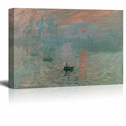 Claude Monet Impression Sunrise Impressionist Art