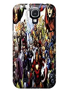 Patricia Alvarez TPU Stars Marvel Avengers Captain America Cool Series Case Cover with Samsung GalaxyS4 Retail Packaging