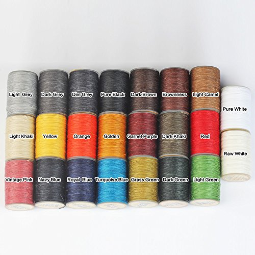 WUTA LEATHER 0.65mm Waxed Thread 23 Colors Hand Sewing Cord Leather Craft Tools by Wuta Leather (Image #3)