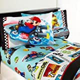 Mario 'Road Rumble' Bedding Sheet Set, TWIN