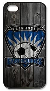 Iphone 5/5s Cover San Jose Earthquakes Logo, DIY Black Skin Edges PC Protected Case of Cecilydreaming by runtopwell