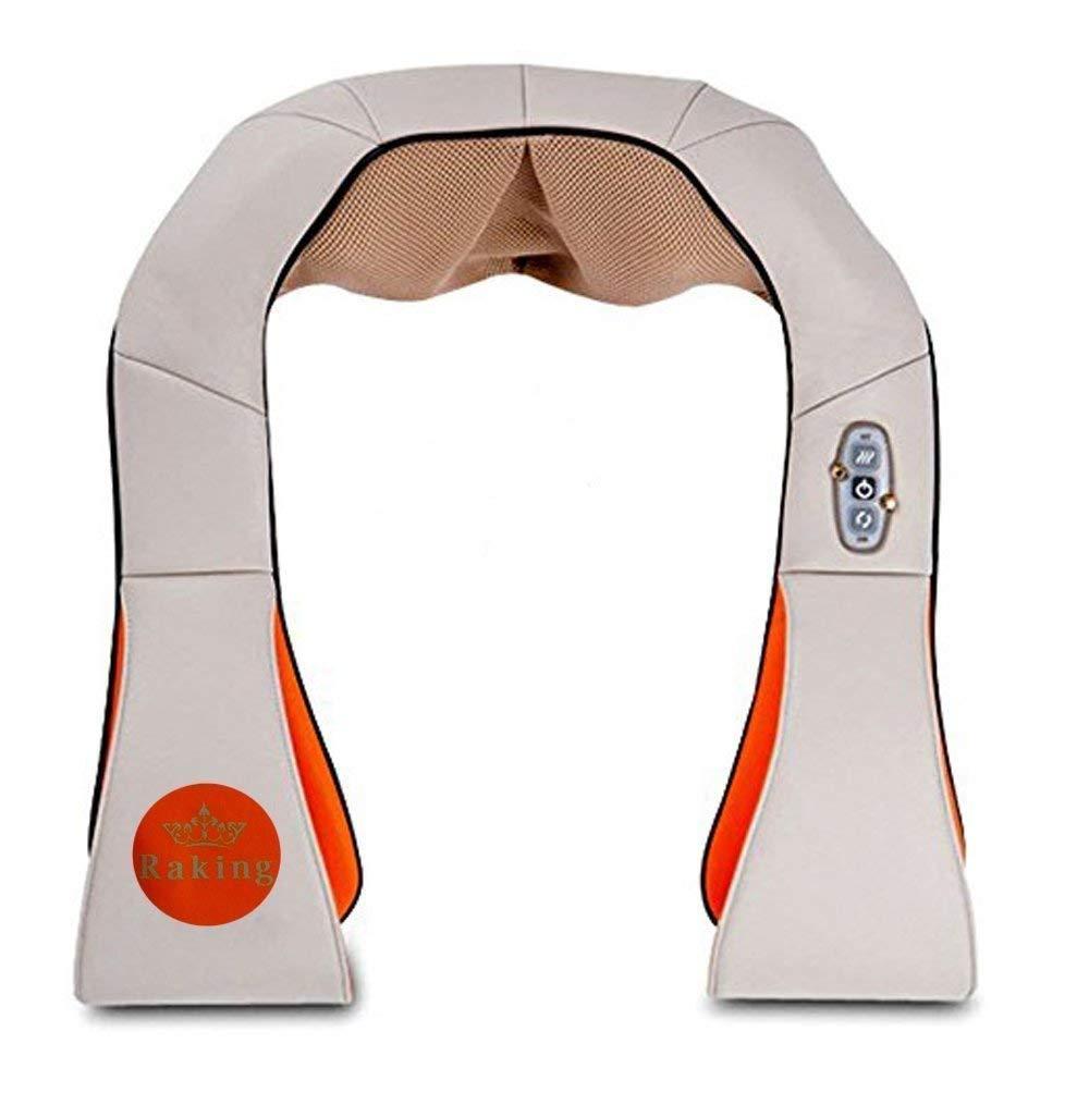 Raking Neck and Shoulder Massager Kneading- Back/Waist/Feet Massager with Heat - Home Spa Machine/Car,Office Chair Massager (Beige) 141[並行輸入]   B01N9DDPAL