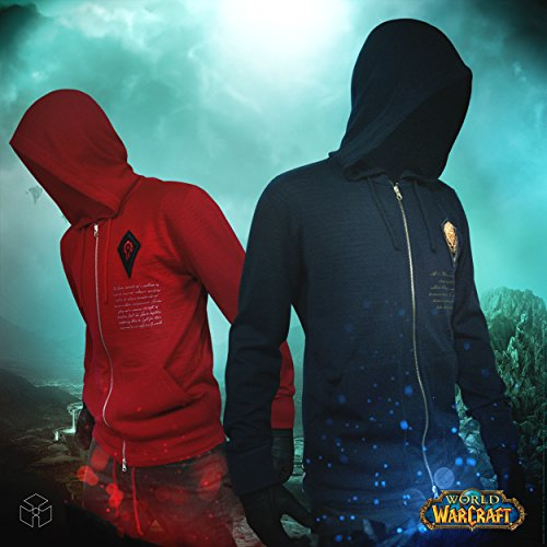 Musterbrand-World-of-Warcraft-Men-Knit-Cardigan-Hordes-Rage-Red