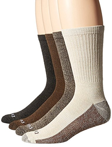 Dickies Men's 4 Pack Sock Size:10-13/Shoe Size: 6-12 Weight Marled Accent Moisture Control Crew Socks, Duck, Sock Size:10-13/Shoe Size: 6-12