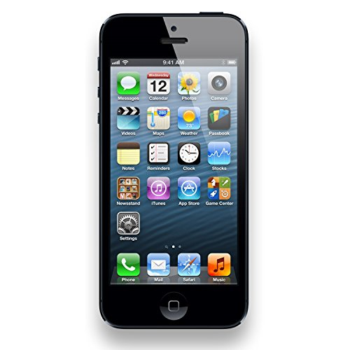 Apple iPhone 5, GSM Unlocked, 16GB - Black (Renewed)