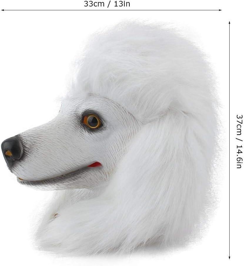 Cosplay Mask adulti in lattice cane Testa di animale Maschera del vestito operato del costume di Halloween del partito di Cosplay