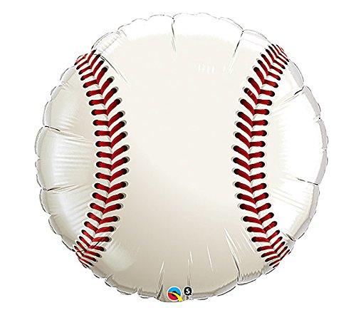 36 Inch Baseball Mylar Balloon - Huge 3 Foot Mylar Balloon (Huge Baseball)