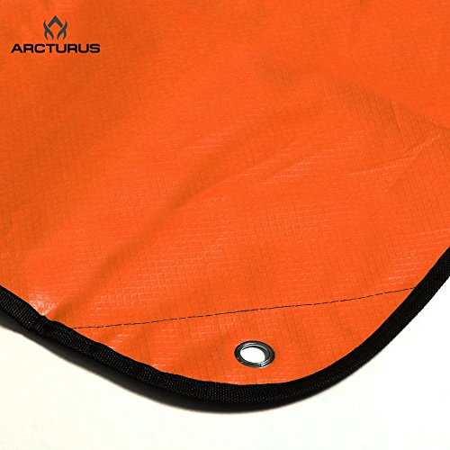 Arcturus-All-Weather-Outdoor-Survival-Blanket-All-Purpose-Thermal-Reflective-60-x-82-Orange