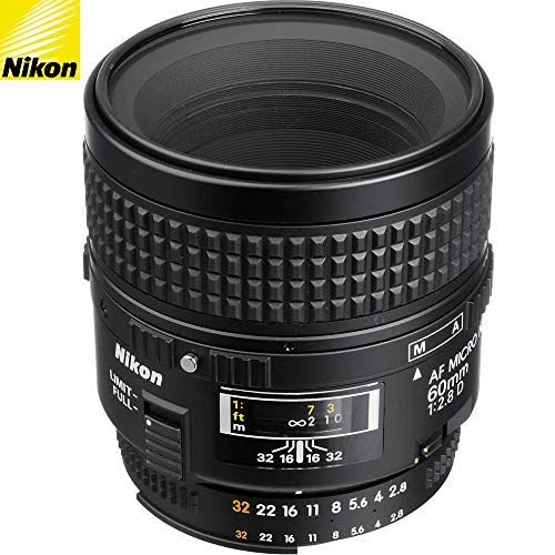 Nikon 60mm f/2.8D AF Micro Nikkor Lens 1987 (Renewed)