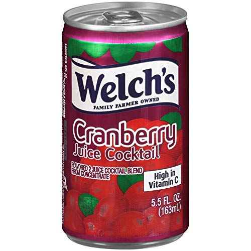Welch's Juice Cocktail, Cranberry, 5.5 Ounce On the Go Cans (Pack of - Cans Juice Cranberry