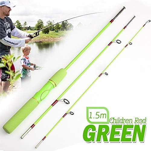 NO LOGO FJJ-YUGAN, 1.5 m Spinning caña de Pescar para niños Fibra ...
