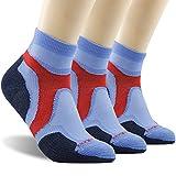 Ankle Hiking Socks, ZEALWOOD Outdoor Unisex Cycling Socks Low Cut Wool Hiking Socks,Trail Running Socks Black Friday Deal Cyber Monday 2017 Thanksgiving Day Socks Gifts Blue/Black, Medium,3 Pairs