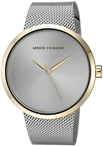 Armani Exchange Women's AX4508 Two Tone Gold and Silver Mesh Watch
