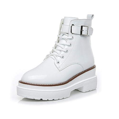 Boots Botines para Mujer Plataforma con Cremallera con Cordones para Mujer Tacones Altos: Amazon.es: Zapatos y complementos