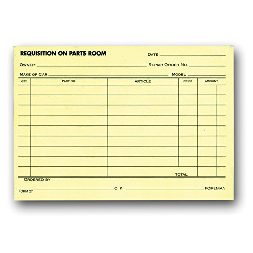 Parts Requisition Forms - Small